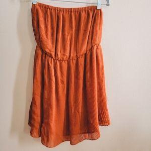 Strapless Rust Mini Dress Forever21